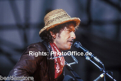 Bob Dylan Munich 1984, rare 12 x 18 Photo Poster from original slide, negative