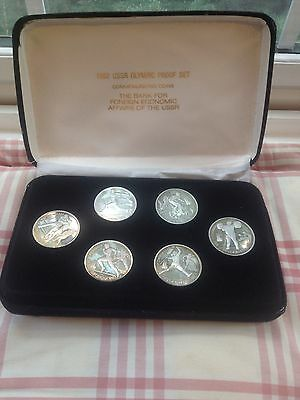 Rare 1992 USSR Olympic Proof Set Coins One Rouble Coin Russian Inc COA