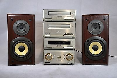 Technics SE-HD350 Midi Stacking System Tuner Amp CD Cassette and Speakers
