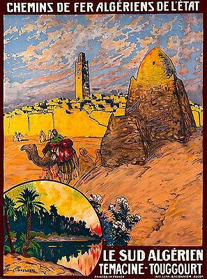 Temadine  Algeria North Africa Vintage Travel Advertisement Art Poster Print