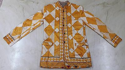 Authentic Needle Point Hand Stitch Embroidery Phulkari Bagh Ladies Coat Jacket
