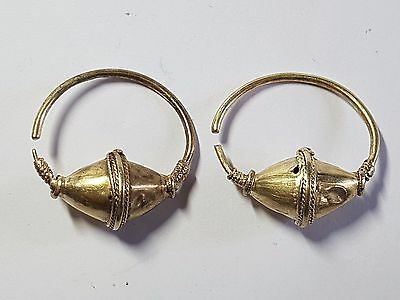 SCANDINAVIAN  GOLD EARRINGS  10th-13en Century AD