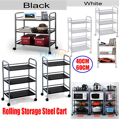 New Rolling Wheel Trolley Steel Cart Wax Beauty Salon Shelf Kitchen Storage Rack