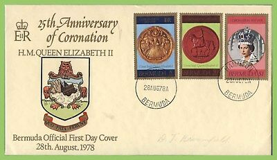 Bermuda 1978 25th Anniv of Coronation set on First Day Cover