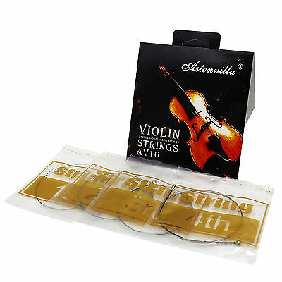 1 Pack High-quality Violin String Set A,G,D,E Silver