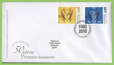 Cyprus 2010 50th Anniv of the Republic of Cyprus set on First Day Cover