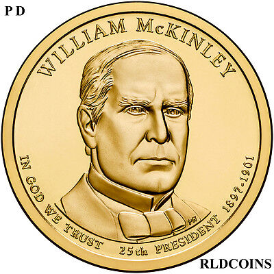 2013 P and D PRESIDENT WILLIAM McKINLEY  2 COIN DOLLAR SET