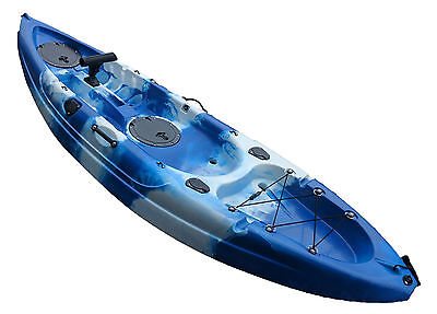 SINGLE SIT ON TOP ADULT KAYAK with ROD HOLDER canoe fishing