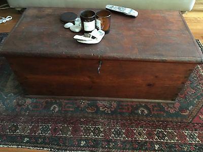 Antique Dovetailed Wood Blanket Chest Box