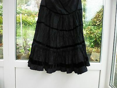 STEAMPUNK  STYLE  BLACK FRILLED SKIRT SIZE M WAIST 30in