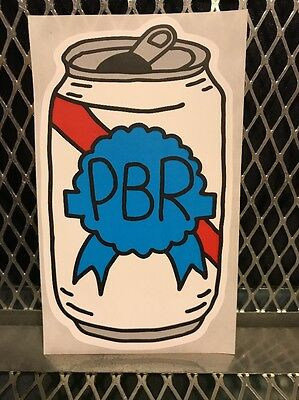PBR ART Pabst Blue Ribbon Beer ~ CAN ART ~ Sticker Tap Handle Artist