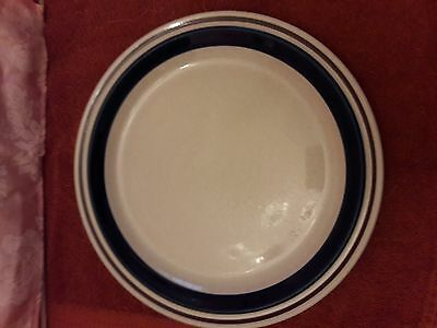 """Contemporary Chateau 12"""" Chop Plates, Hand Painted Blue Stoneware - Japan"""