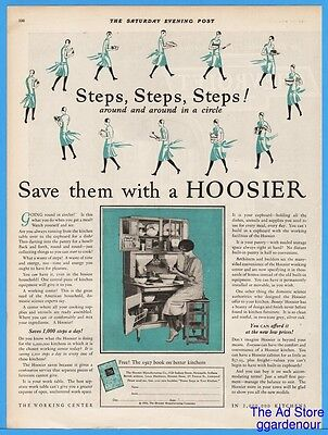 1926 Hoosier Cabinet New Castle IN Save Steps Kitchen Home Magazine Print Ad