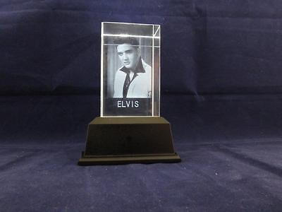 Solid Glass Crystal Laser Block and White Light Box - Elvis.
