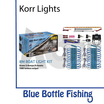 NEW Korr 8 meter Boat Lights White/Blue from Blue Bottle Fishing
