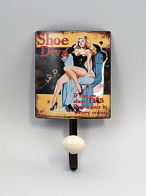 hook - Strip Metal Pin-Up Girl shoe Diva Vintage Shabby Chic a2-73165