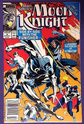 MARC SPECTOR: MOON KNIGHT 9 December 1989 9.2-9.4 NM-/NM NEWSSTAND EDITION!!!