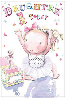 DAUGHTER 1st BIRTHDAY CARD AGE 1 QUALITY WITH BEAUTIFUL VERSE JELLY BEANS