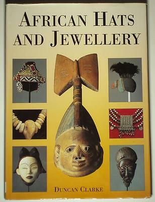 BOOK African Hats & Jewelry traditional costume mask beads ceremonial headdress