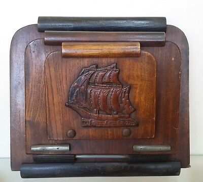 Antique  Collectable Wooden Newspaper Holder 1940's