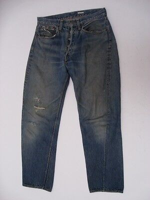 Vintage Levi's Big E 501 XX Hidden Rivet Jeans DISTRESSED Size 32 X 27