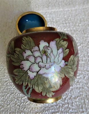 antique Chinese Cloisonne tea caddy