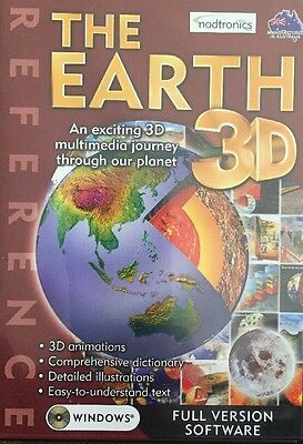 The Earth 3-D windows Reference Full Version Software New Sealed Free Postage
