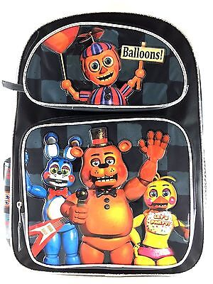 """New Arrive  Five Nights at Freddy's Large Backpack 16"""" Boys School Book Bag"""