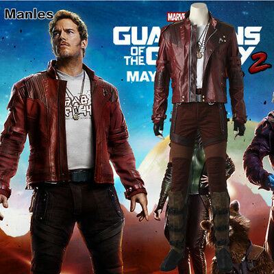 Guardians of the Galaxy 2 Star Lord Costume Cosplay Peter Jason Quill Short Coat