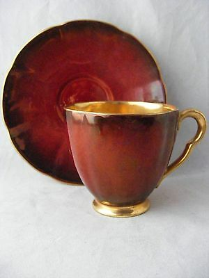 Rouge Royal Carlton Ware Gold LIned Demitasse Cup & Saucer