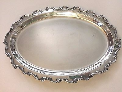 Webster Wilcox International Silver plated Joanne 7209 Large Oval Serving Tray