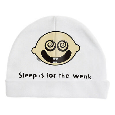 NEW Sleep is for the weak baby beanie by Hoity Toity