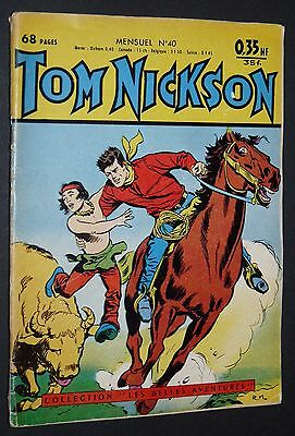Petit Format Bd 1960 Tom Nickson N°40 Orchidee Petit Sherif Richard Coeur Or