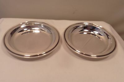 Pair Of Sterling Silver,georg Jensen, Small Dishes, Import London 1956. 600A