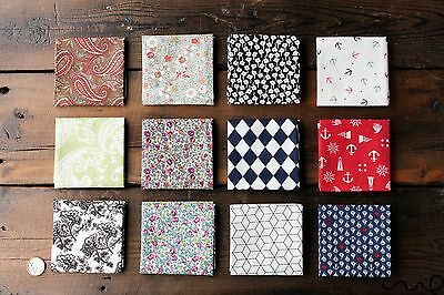 Handmade Mens Cotton Pocket Square Handkerchief Floral Geometric Wedding Gift