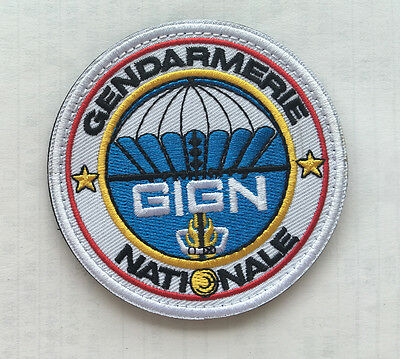 Gign Gendarmerie Army Military Morale Tactical Badges Embroidered Hook Patch