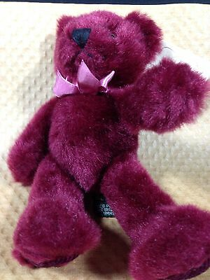 """Rhapsody ROSE BEAR Pink Ribbon RUSS BEARS From the Past 7-1/2"""" Retired 1992 NWT"""