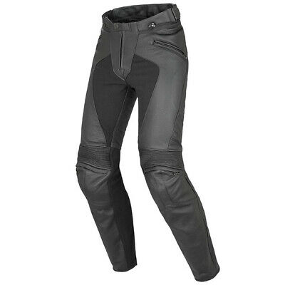 Dainese Pony C2 Summer Lady Leather Motorcycle Trousers - Black