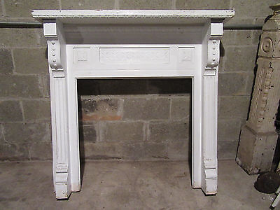 ~  Antique Carved Oak Fireplace Mantel 48 X 48  ~  Architectural Salvage