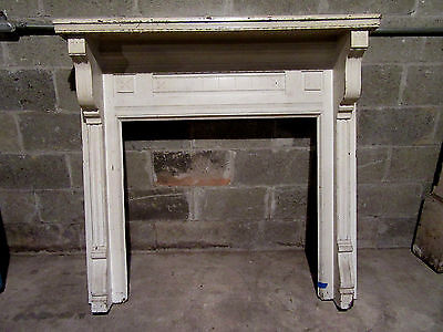 ~  Antique Carved Walnut Fireplace Mantel 48 X 47  ~  Architectural Salvage