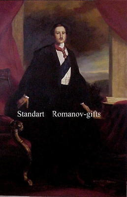 Large Oil Painting Victorian Consort Prince Albert