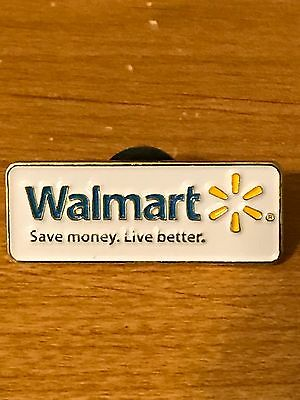 Rare Walmart Lapel Pin Save Money Live Better Wal-mart Pinback