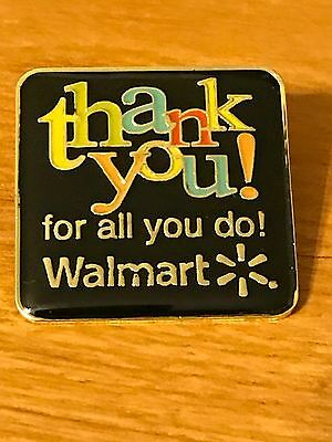 Rare Walmart Lapel Pin Thank You For All You Do Wal-mart Pinback