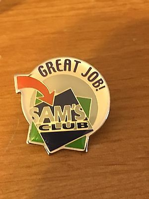 Rare Walmart Lapel Sams Club Great Job Wal-mart Pinback