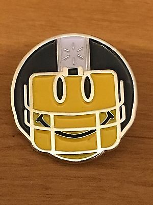 Walmart Lapel Pin Smiley Face Football Helmet Player Pinback