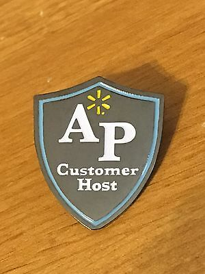 Rare Walmart Lapel Pin AP Customer Host Asset Protection Wal-mart Pinback