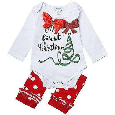 Arshiner Baby Girl's My First Christmas Cotton Romper Long Sleeve Vest 18 Months