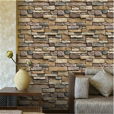 100CM Brick Effect Tile Stickers Home Decor Kitchen Room Wall DIY Decal Sticker