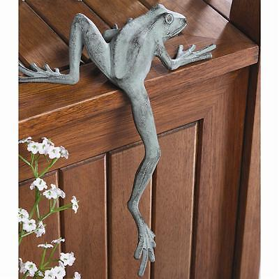 Froggy Long Leg Frog Whimsical Shelf Sitter Garden Decor Figurine Sculpture