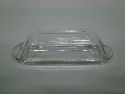 Vintage Clear Glass Butter Dish with Dome Lid